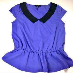 🦋 Jessica Simpson's Purple and Black Peplum Top